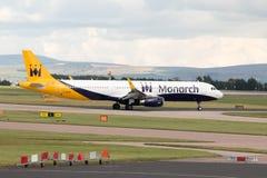Monarca Airbus A321 Imagens de Stock Royalty Free