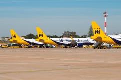 3 monarca Airbusses Fotografie Stock