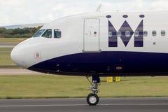 Monarch Airbus A320 Stockbild