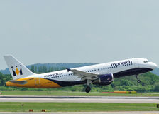 Monarch Airbus A320 Royalty Free Stock Photo