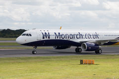 Monarch Airbus A320 Royalty Free Stock Images
