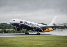 Monarch Airbus A330. Taking off stock photography