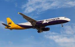 Monarch Airlines Aerobus A321 Fotografia Royalty Free