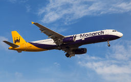 Monarch Airlines Airbus A321 Fotografia de Stock Royalty Free