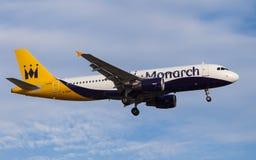 Monarch Airlines Airbus A320 imagem de stock