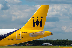 Monarch Airlines Airbus A321 tail Royalty Free Stock Photo