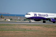 Monarch Airlines - Passenger Plane Aircraft Chartered Flight Royalty Free Stock Photo