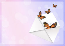 Monarch butterflies. Funny illustration of monarch butterflies Stock Images