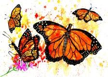 Monarch Butterfly Art Stock Photo