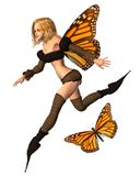 Monarch Butterfly Fairy - 3 Stock Images