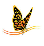Monarch butterfly logo Stock Image