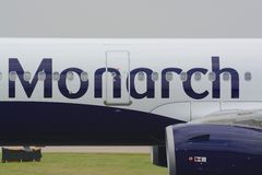 Monarch jet aircraft Stock Images