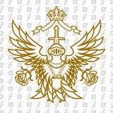 Monarchie voor altijd royalty-vrije illustratie