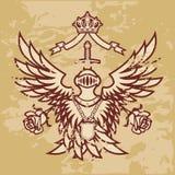 Monarchie voor altijd (grunge) vector illustratie