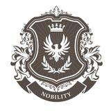 Monarchy coat of arms - heraldic royal emblem Stock Photos