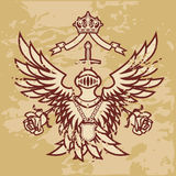 Monarchy Forever ( grunge ). Coat Of Arms Monarchy Forever ( grunge version Royalty Free Stock Photos