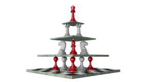 Monarchy (pyramid of power) stock footage
