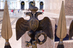 Monarchy symbol against the Winter Palace Royalty Free Stock Image
