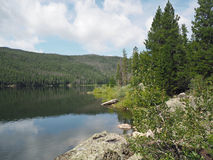 Monark sjö i Colorado royaltyfri fotografi