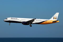 Monarque Airbus A321 Image libre de droits