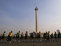Monas, Indonesia National Monument in Jakarta Royalty Free Stock Image