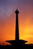 Monas, marco de Jakarta Cit, Indonésia Foto de Stock Royalty Free