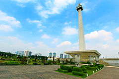 The Monas. National Monument Monas. Merdeka Square, Central Jakarta, Indonesia royalty free stock photography