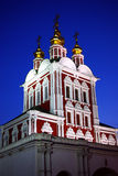 Monastère à Moscou la nuit Images libres de droits
