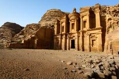 Monastère à PETRA Images stock