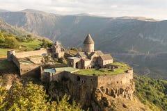 Monastère antique de Tatev de chrétien en Arménie photographie stock