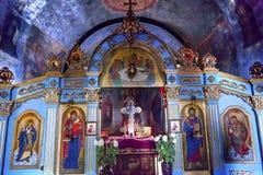 Monastère antique Kiev Ukraine de Vydubytsky d'église de Mikhaylovsky de basilique Images libres de droits