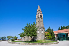 Monastère antique San Barnardin, Portoroz, Slovénie Photos stock
