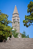 Monastère antique San Barnardin, Portoroz, Slovénie Images stock