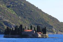 Monastère antique sur l'île Image libre de droits