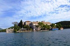 Monastère bénédictin de St Mary sur l'île de Mljet Photos libres de droits