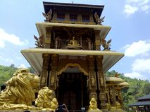 Monastère bouddhiste de Mahamevnawa au Sri Lanka image stock