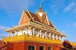 Monastère bouddhiste et ornement Image stock