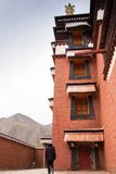 Monastère bouddhiste tibétain en Chine Photographie stock