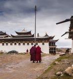 Monastère bouddhiste tibétain en Chine Photo libre de droits
