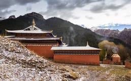 Monastère bouddhiste tibétain en Chine Image libre de droits