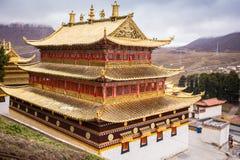 Monastère bouddhiste tibétain en Chine Images stock