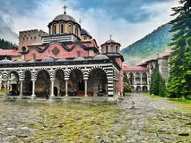 Monastère Bulgarie de Rila image stock