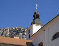 Monastère, couvent et église bénédictins baroques Saint John sous la falaise, cosse Skalou, Beroun, central de Svaty janv. images libres de droits