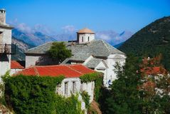 Monastère d'Î-oly de Panagia Spilia, Agrafa, Karditsa, Grèce images stock