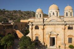Monastère d'Agia Triada, Crète, Grèce Front View photo libre de droits