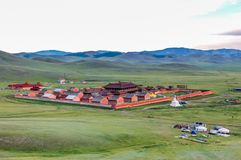 Monastère d'Amarbayasgalant en Mongolie du nord Image libre de droits
