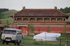 Monastère d'Amarbayasgalant en vallée d'Iven image libre de droits