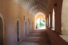 Monastère d'Arkadi Crète, Grèce photographie stock