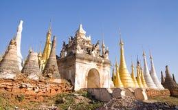 Monastère d'Indein Photos libres de droits
