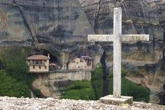 Monastère d'Ipapantis dans Meteora Images libres de droits